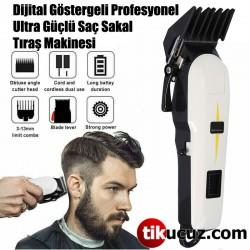 Dijital Göstergeli Profesyonel Ultra Güçlü Saç Sakal Tıraş Makinesi