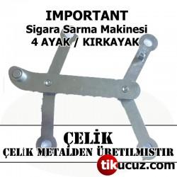 İmportant Sigara Sarma Makinesi Çelik 4 Ayak H-Link Assembly