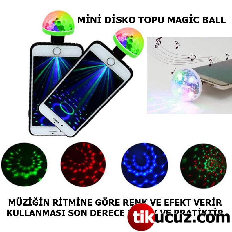 LED USB RGB Sihirli Disko Topu Müzik Ses Kontrolü