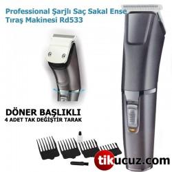Professional Şarjlı Saç Sakal Ense Tıraş Makinesi Rd533