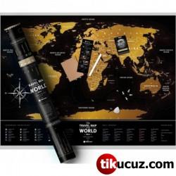 Scratch Map Kazıma Poster Dünya Haritası
