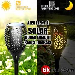 Alev Efektli Güneş Enerjili Solar Bahçe Lambası