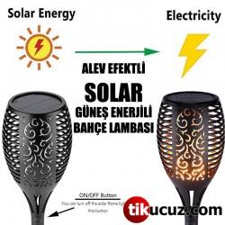 Alev Efektli Solar Bahçe Lambası