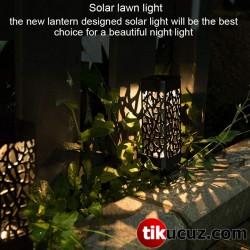 Dekoratif Solar Güneş Enerjili Bahçe Aydınlatması Yürüyüş Yolu Seti