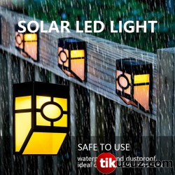 Solar Güneş Enerjili Duvara Monteli Rgb Bahçe Lambası 4lü Set