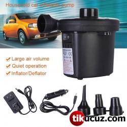 Çakmak Girişli Taşınabilir Mini Lastik Şişirme Pompası Kompresörü