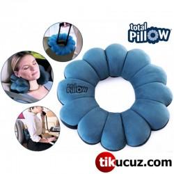 Mikro Boncuklu Yumuşak Yastık Simit Total Pillow
