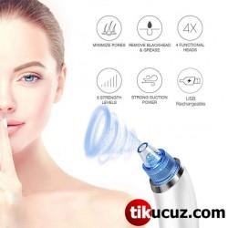 Şarjlı Vakumlu Siyah Nokta Akne Cilt Temizleyici Yüz Temizleme Cihazı
