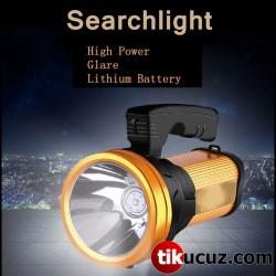 USB Çıkışlı Şarj Edilebilir Güçlü Ledli El Feneri 25W