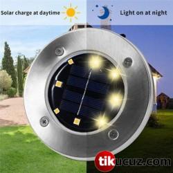 Güneş Enerjili Su Geçirmez Saplamalı Bahçe Lambası
