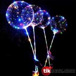 Led Işıklı Helyum Uçan Şeffaf Balon