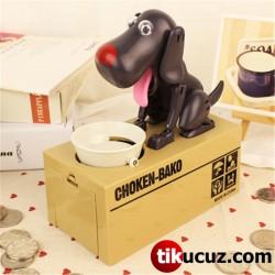Para Yiyen Köpek Kumbara Siyah Renk