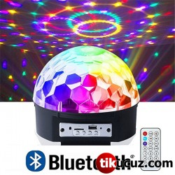 Rgb Led Işıklı Bluetooth Usb Disko Topu