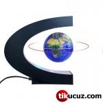 C Şeklinde Havada Dönen Led Işıklı Manyetik Dünya Küresi