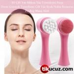 Çift Taraflı 3D Masaj Yüz Temizleme Fırçası