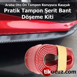 Kırmızı Araç Araba Oto Ön Tampon Koruyucu Kauçuk Tampon Şerit Bant Pratik Döşeme Kiti