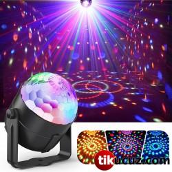 Mini Disko Topu LED RGB Lazer Parti Dj