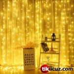 Şeffaf Kablolu Gün Işığı Sarı Renk Pilli Peri Led Işık 10 metre