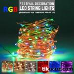 Şeffaf Kablolu RGB Pilli Peri Led Işık 3 Metre