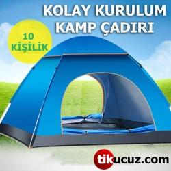 10 Kişilik Kamp Çadırı