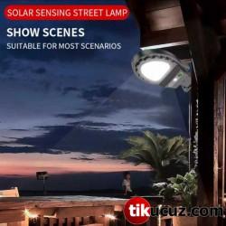 Sokak Lambası Şeklinde Solar Bahçe Lambası 38 Ledli