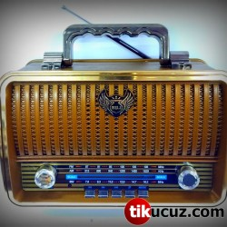 Nostaljik Alaturka Ahşap Radyo Kemai MD-1909BT