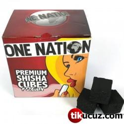 One Nation Premium Hindistan Cevizi Küp Nargile Kömürü 1 Kg