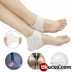 Slikon Topuk Yükseltici Topuk Çorabı